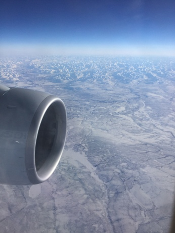 Siberia from 37,000 feet looking east